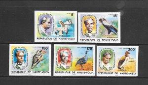 BIRDS - BURKINA FAS0 #368-9,C212-14  DR SCHWEITZER & BIRDS-IMPERFS  MNH
