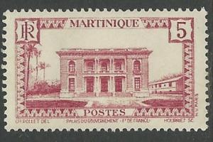Martinique # 137 Government Building  5c  (1) VF Unused