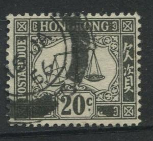 Hong Kong - Scott J11 - Postage Due Issue -1938 - FU - Single 20c Stamps