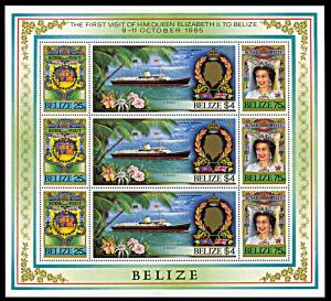 Belize 782-784, MNH miniature sheet, Royal Visit of Queen Elizabeth