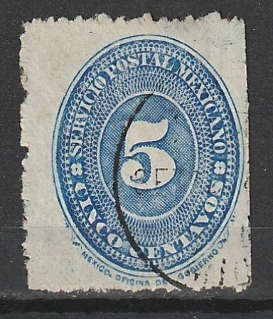 Mexico #??? Used ( unable to determine catalogue #- stamp is watermarked
