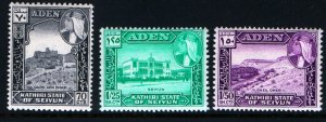 KATHIRI STATE OF SEIYUN 39-41 MINT HINGED, SET 1964