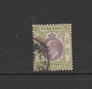 Hong Kong 1904/6 $1 Used SG 86