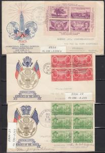 USA - 1935/1937  block of stamps on FDC and covers collection - (1454)