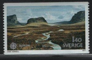 SWEDEN, 1211,  HINGED, 1977, Rapadalen valley