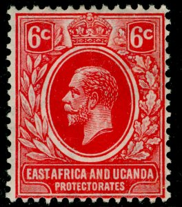 EAST AFRICA and UGANDA SG67, 6c carmine-red, M MINT. Cat £10.