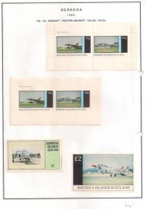 SCOTLAND - BERNERA - 1982 - Fighter Aircraft -2v Perf,Imp, Min, D/L Sheets - MLH