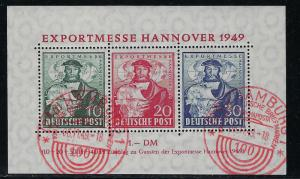 Germany AM Post Scott # 664a, used, s/s, special red cancel