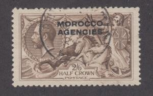 Great Britain, Morocco Sc 217 used 1915 2sh6p Seahorses w/ overprint, almost VF