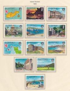 Alderney # 1-12, Island Scenes - Definitives, NH, 1/2 Cat.