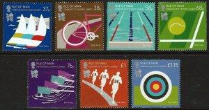 Isle of Man --2012-  LONDON OLYMPICS   MNH  Set   # 1471-1477