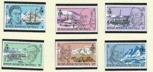 British Antarctic Territory mnh S.C.#  76 - 81