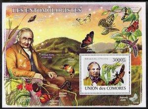 Comoro Islands MNH S/S Butterflies & Old Man 2009