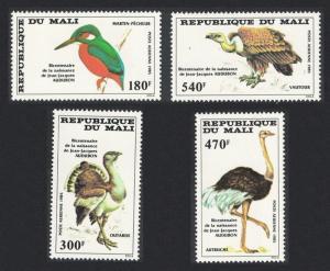 Mali Birds Birth Bicentenary of John J Audubon ornithologist 4v SG#1073-1076