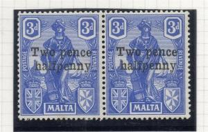Malta 1925 Early Issue Fine Mint Hinged 2.5d. Surcharged 321590