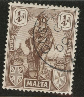 MALTA Scott 98 KGV 1922 Malta used