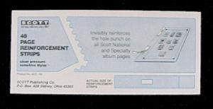 Square Hole Page Reinforcements Pkg 48 Clear, 03000