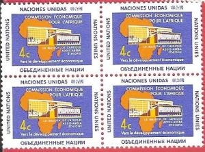 United Nations 1961 New York Economic Commission Africe SC# 95-96 Block of 4 MNH