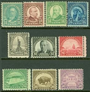 EDW1949SELL : USA 1931 Scott #692-701 Mint Never Hinged. Catalog $141.00.