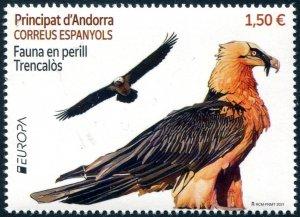 2021 Sp Andorra Wildlife Europa Bearded Vulture (Scott NA) MNH