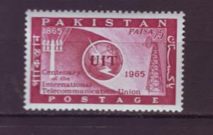 J1943 JLS stamps1965 pakistan mlh set/1 $2.50v itu