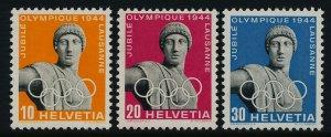 Switzerland 290-2 MNH Apollo Statue, Olympic Jubilee