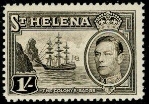 ST. HELENA SG137, 1s sepia, LH MINT.