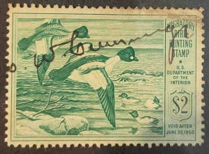 US Stamps #RW16 Used Federal Ducks #RW16A153