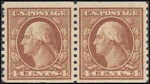 495 Mint,OG,NH... Pair... SCV $50.00