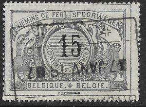 Belgium Q17 used.  Railway Stamp
