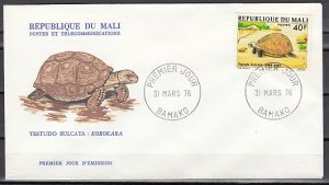 Mali, Scott cat. 252 only. Tortoise value. First day cover. ^