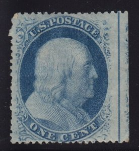 24 margin straddle VF OG previously hinged with nice color cv $ 150 ! see pic !