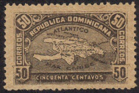 Dominican Rep #118 old map MH