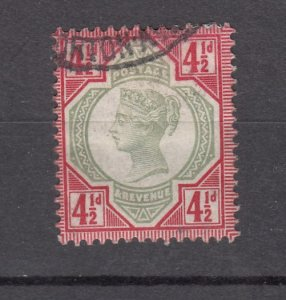 J27528 1887-92 great britain used #117 queen $45.00 scv