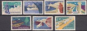 J27576 1960 romania set mh #1368-74,c87 views