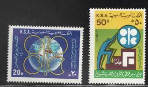 Saudi Arabia Scott 794-795 MNH** OPEC set