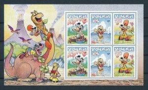[106397] Slovenia 1998 Prehistoric animals dinosaurs drawing art Sheet MNH