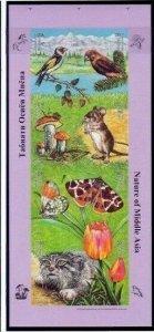Tajikistan 2002 mushrooms butterflies birds wild cats etc  klb MNH imperforated