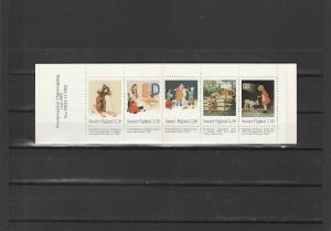 Finland  Scott#  920a  MNH  Complete Booklet  (1993 Art)