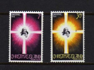 Christmas Island #61-62 Mint H 1974 MH