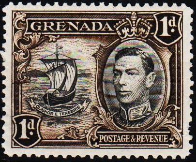 Grenada. 1938 1d S.G.154a Mounted Mint
