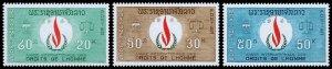 Laos Scott 160-162 (1968) Mint NH VF Complete Set W