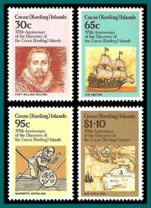 Cocos 1984 Anniversary of Discovery, MNH  115-118,SG115-SG8