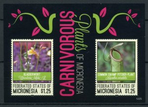 Micronesia Stamps 2012 MNH Carnivorous Plants of Pacific Bladderwort 2v S/S