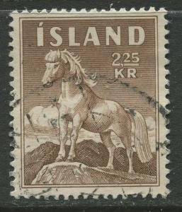 Iceland - Scott 312 - General Issue -1958 - VFU - Single 2.25k Stamp