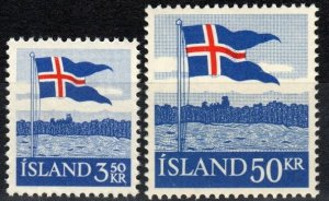 Iceland  #313-4 MNH CV $9.50  (X6998)