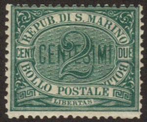 San Marino #1 MH numeral