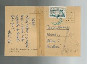 1963  Korea Postcard Cover Czechoslovakia