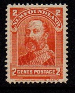 Newfoundland Sc 81 1897 2 c orange Prince of Wales stamp mint