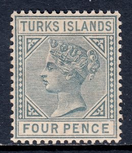 Turks Islands - Scott #50 - MH - Toning - SCV $32